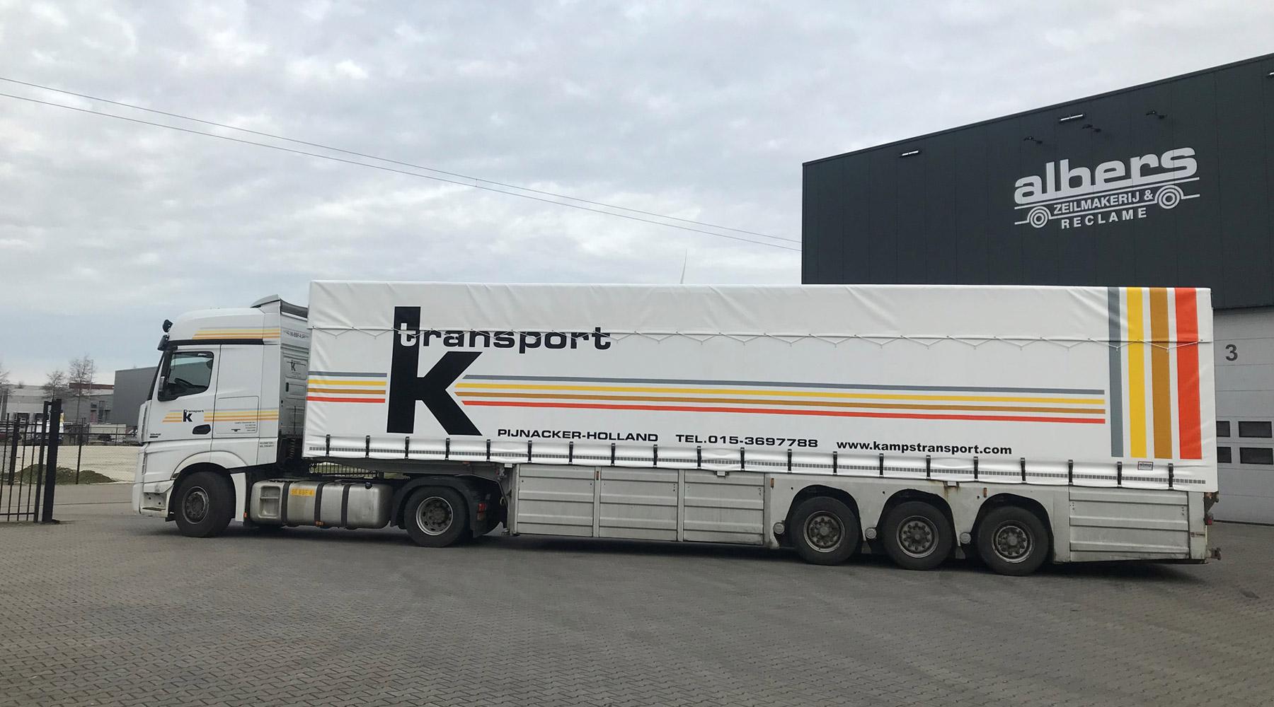 Kampst Transport | Vrachtwagenzeil op maat